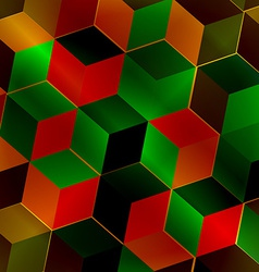 Fractal abstract square vector image vector image