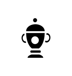 Funeral urn icon in simple style vector image