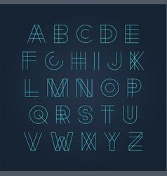 futuristic luminous font - minimal design vector image
