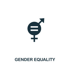 Gender equality icon creative element design from vector