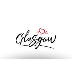 Glasgow europe european city name love heart vector