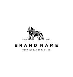 Gorilla logo design vector