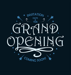 grand opening vintage poster vector image
