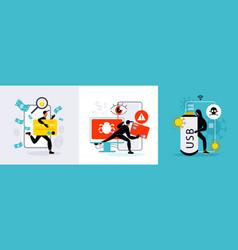 hacker design concept vector image