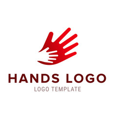 Hand to hand logo abstract logo design vector