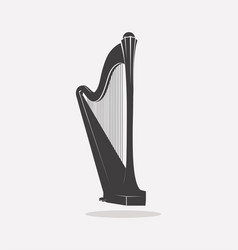 harp logo vector image