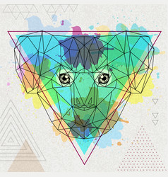 Hipster polygonal animal koala on artistic vector