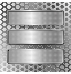 hree plaques vector image