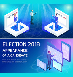 Isometric voting concept of presidential elections vector
