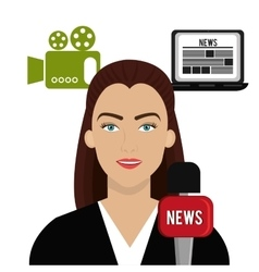 Journalism and media vector