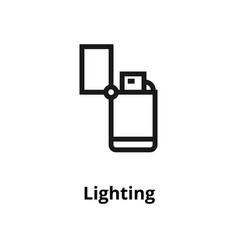 lighting line icon vector image