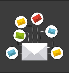 mail icon vector image