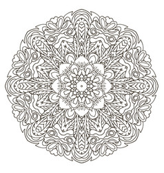mandala oriental coloring ornament relaxing vector image