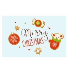 merry christmas backgrounds cartoon vector image