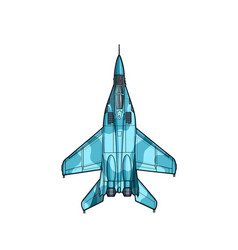 Modern russian jet fighter aircraft draw vector