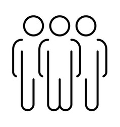 monochrome simple team icon vector image