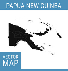 papua new guinea map with title vector image