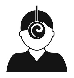 Psychologist hypnosis icon simple style vector