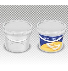 Realistic of empty plastic vector