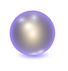 Realistic violet metall ball vector