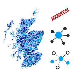 Scotland map links collage vector