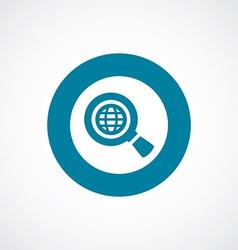 Search globe icon bold blue circle border vector