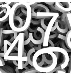 set digital numbers background vector image