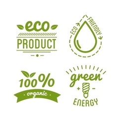 Set of organic food labels and design elements or vector