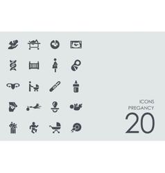 Set of pregancy icons vector