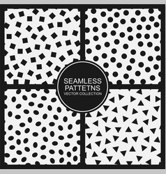 set seamless simple patterns modern vector image