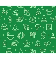 Spa Background Pattern vector image