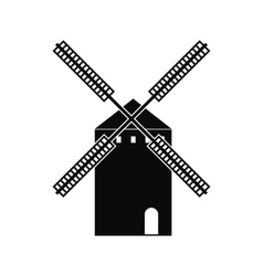 Spanish windmill icon simple style vector