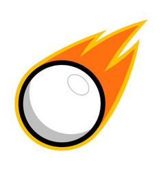 sport ball fire white vector image