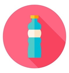 Sport Bottle of Water Circle Icon vector image
