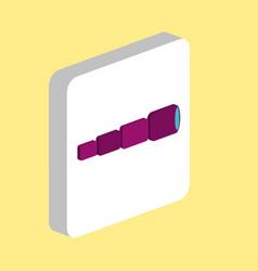 spyglass computer symbol vector image