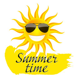 summer time sun in glasses vector image
