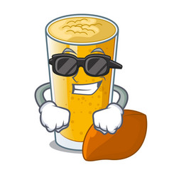 super cool lassi mango in a cartoon bottle vector image