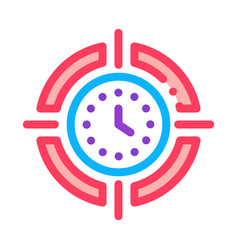 target clock time icon outline vector image