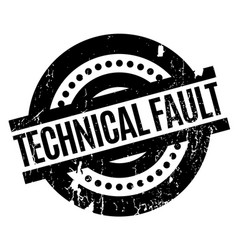 Technical fault rubber stamp vector