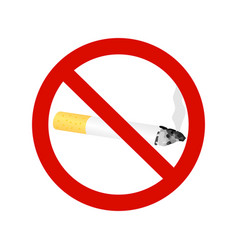 The sign no smoking cigarette vector