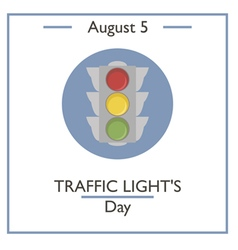 Traffic Lights Day vector image
