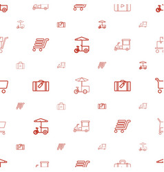 Trolley icons pattern seamless white background vector
