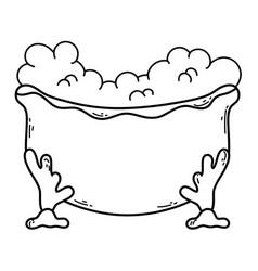 tub bath cartoon vector image