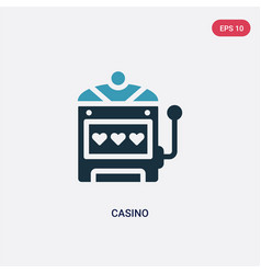 two color casino icon from united states concept vector image