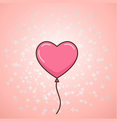 valentines day balloon vector image vector image