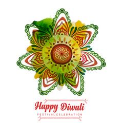 Watercolor diwali background vector