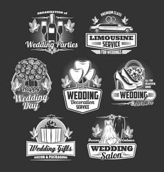 Wedding company marriage organization service vector