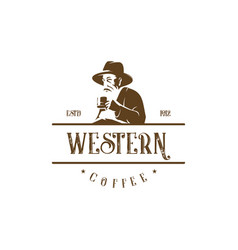 western coffee vector image