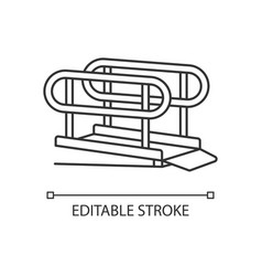 Wheelchair ramp linear icon vector