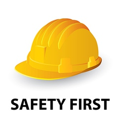 Yellow safety hard hat vector